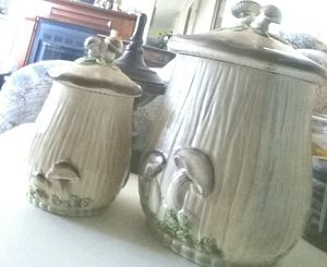 "Mushroom Decorative Kitchen Jars ""Ceramic"" for Sale in Sebring, FL"