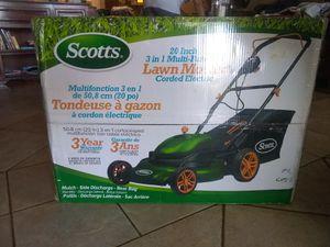 Scott's 20inch 3 in 1 Multi Function Electric Lawn Mower for Sale in Glendale, AZ