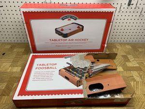 Table top foosball and air hockey bundle for Sale in Rancho Cordova, CA