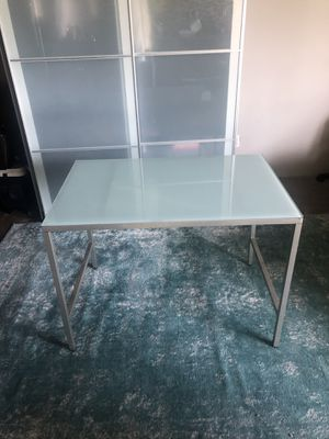 CB2 Frosted Glass Table/ Desk for Sale in Los Angeles, CA
