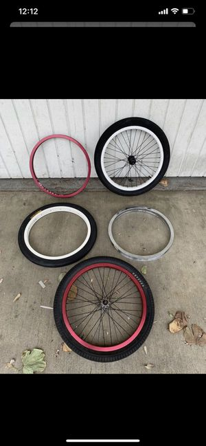 BMX Parts - Front Wheels, Rims, 3pc Cranks, Pedals - Odyssey, Animal Hamilton, Fit, Eastern, Felt for Sale in Los Angeles, CA