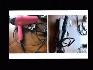 Hair dryer and straightener for Sale in Arlington, VA