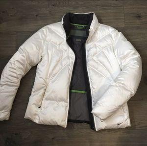 NIKE white puffer jacket women's winter - L for Sale in Tukwila, WA