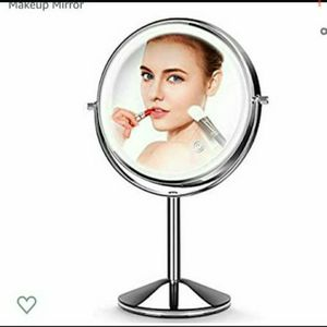 Makeup Mirror with Light,10X Magnification Makeup Mirror, Vanity Mirror,Double Sided Dimmable Cosmetic Mirror with Touch Control 360°Rotation for Sale in Fontana, CA