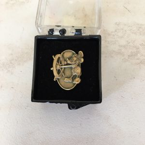 Walt Disney 1 Year Service Pin Cast Member Steamboat Willie Mickey for Sale in Fort Lauderdale, FL
