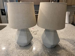 2 Cement Lamps w/shades for Sale in Austin, TX