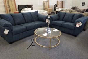 Blue Sofa & couch & loveseat & Living Room Set for Sale in Houston, TX