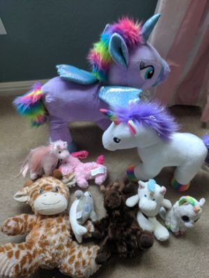Stuffed animals includes Build a bear unicorn for Sale in Austin, TX