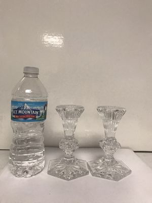 Pair of signed Waterford crystal taper candle sticks for Sale in Glenview, IL