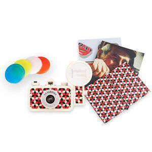 Lomography lomo la sardina 35mm film camera with flash filters manuals and album rare for Sale in Salt Lake City, UT