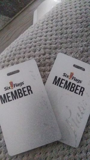 Six flags membership cards for Sale in Lithonia, GA