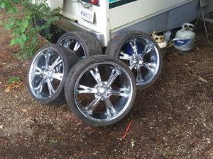 22inch rims with low pro tires for Sale in Pineville, LA