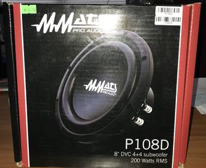 "MMATS pro audio subwoofer 8"" for Sale in Buford, GA"