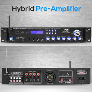 Bluetooth Home Audio Power Amplifier -4 Ch. 3000W, Stereo Receiver w/ Speaker Selector, FM Radio, USB, Headphone for Sale in Tinley Park, IL