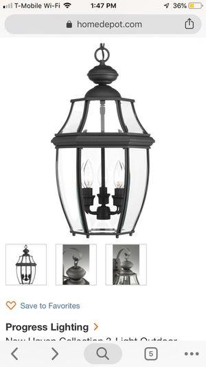 3-Light Outdoor Black Hanging Lantern Large for Sale in Sterling, VA
