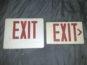 2 Plastic Exit Signs for Sale in Martinsburg, WV