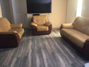 Like new sofa, love seat and chair in excellent condition for Sale in New Port Richey, FL