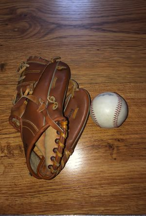 Junior Baseball Glove with Carolina League Rawlings Baseball for Sale in Linthicum Heights, MD