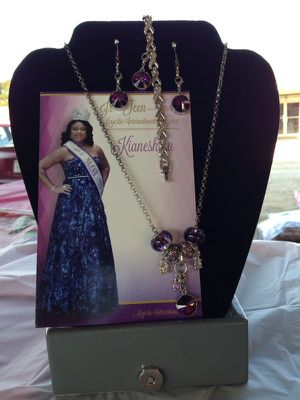 925 Lupus Awareness Jewelry Set also is the month of February Amethyst Set ! for Sale in Detroit, MI