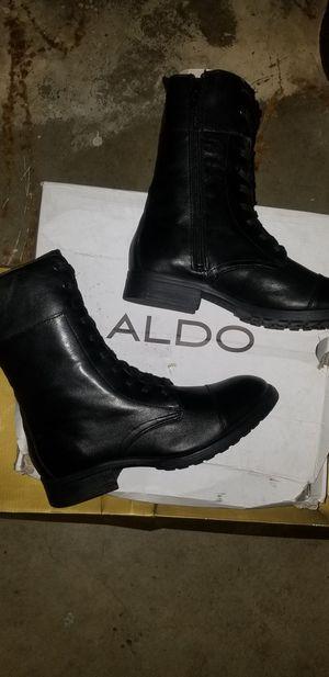 Aldo size 8w black boots for Sale in Phoenix, AZ