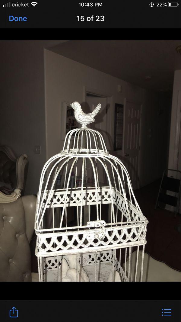 Large bird cage home decor