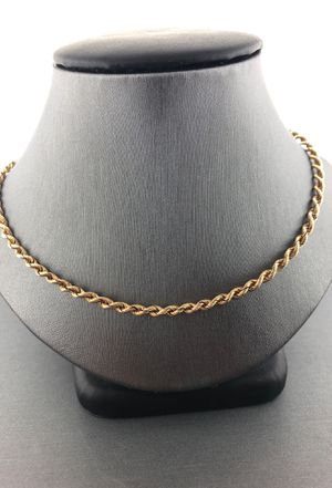 14kt Yellow Gold Rope Chain for Sale in Fort Pierce, FL