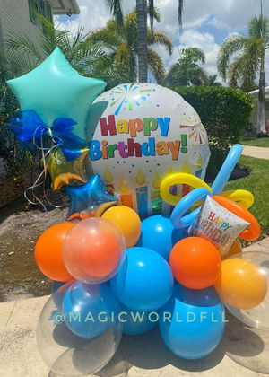 Happy birthday gift balloons Bouquets / Regalo de feliz cumpleaños globos personalizados fiesta party for Sale in Oakland Park, FL