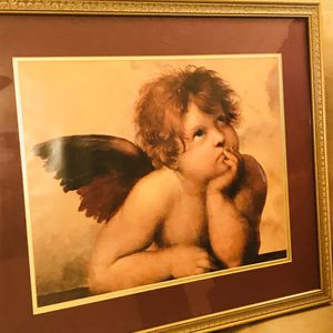 Two angel pictures already and frames mint condition for Sale in Columbus, MS