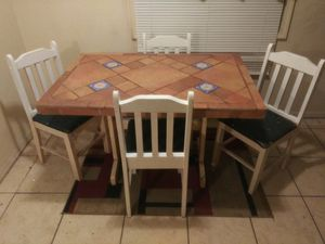 Beautiful ceramic kitchen table with four chairs for Sale in Tulsa, OK