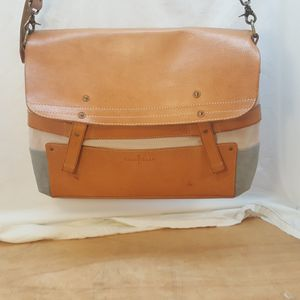Cole Hann Messenger Bag Leather and Canvas for Sale in Holiday, FL