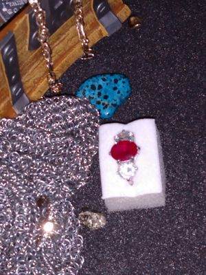 Ruby and diamond silver engagement ring for Sale in Litchfield Park, AZ