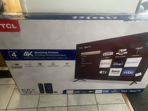 Brand New in Box TCL smart 55 inch 4K HDR TV for Sale in Los Angeles, CA