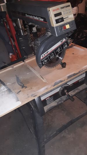 Sears Craftsman Electronic Radial Arm Saw for Sale in Chicago, IL