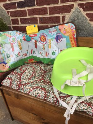 Fisher price music game and booster seat for Sale in Silver Spring, MD