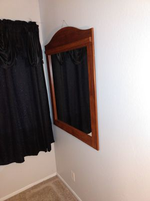 Wall wooden frame mirror for Sale in Riverside, CA