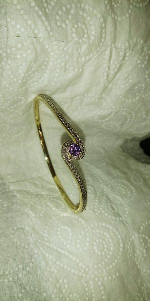 Beautiful gold plated amethyst bracelet for Sale in Phoenix, AZ