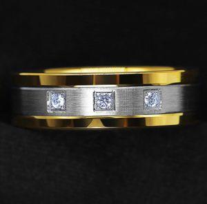 NEW Men's Tungsten 18k Gold Diamonds Ring Wedding Anniversary for Sale in Fresno, CA