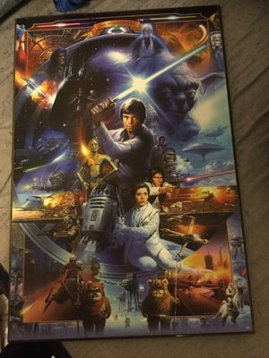 Star Wars wood painting for Sale in Belle, WV