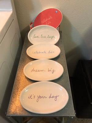 """Brand new Saundra Magsamen Celebrate Life 8"""" plates for Sale in El Cerrito, CA"""