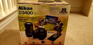 Nikon D3400 Camera Kit with 2 lenses, bag, and filter for Sale in San Antonio, TX