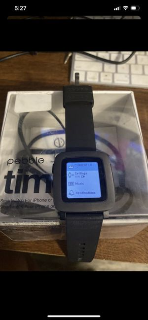Pebble Time Black Smart Watch for Sale in Los Angeles, CA