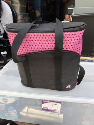 Thermos Raya 24 can insulated lunch tote cooler bag pink and black for Sale in Glenshaw, PA