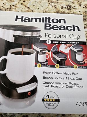 Hamilton Beach Personal Cup Pod Brewer for Sale in Riverside, CA