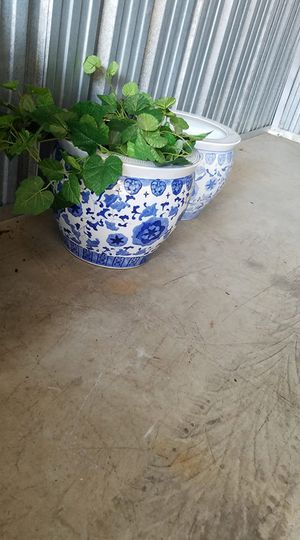 Fish Bowl Flower Planter Pot #1 for Sale in White House, TN