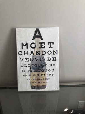 Champagne eye chart canvas art for Sale in Tampa, FL