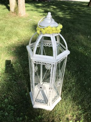 Glass bird cage for Sale in Pine River, MN