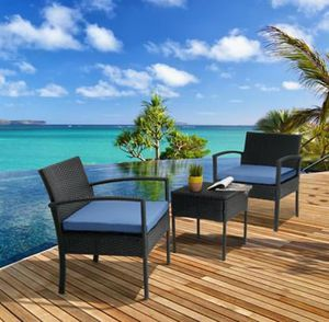 SHIPPING ONLY 3 Piece Patio Furniture Set for Outdoor Areas w/Cushions Chairs and Table for Sale in Las Vegas, NV