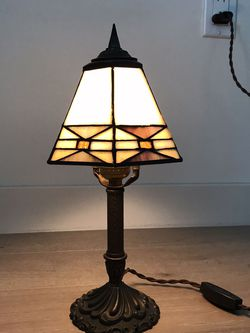 """Antique Tabletop Lamp with Glass Shade (13.5"""") for Sale in Los Angeles,  CA"""