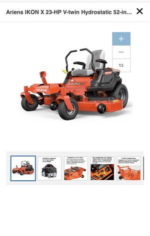 Ariens IKON X 23-HP V-twin Hydrostatic 52-in Zero-turn lawn mower for Sale in Atlanta, GA