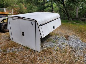 Camper shell with toolbox and access door for Sale in Shingle Springs, CA